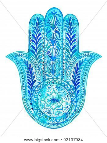 Hamsa Hand - Amulet Illustration.