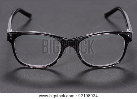 Glasses on a dark background