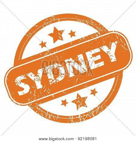 Sydney round stamp