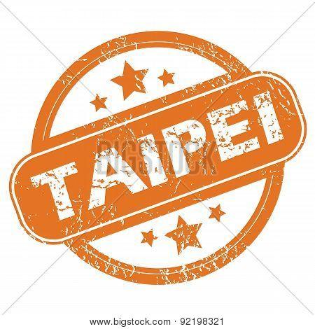 Taipei round stamp