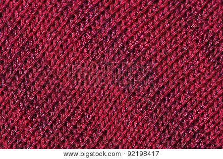 Dark Red Melange Stockinet As Background