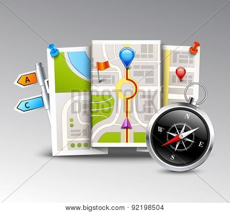 Navigation Realistic Background
