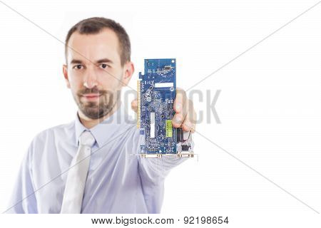 It Specialist Holding Computer Part