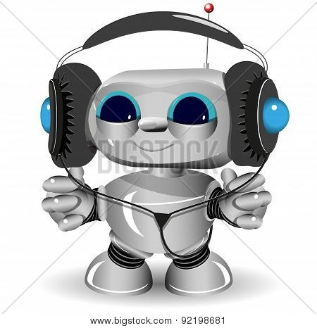 White Robot Headphones