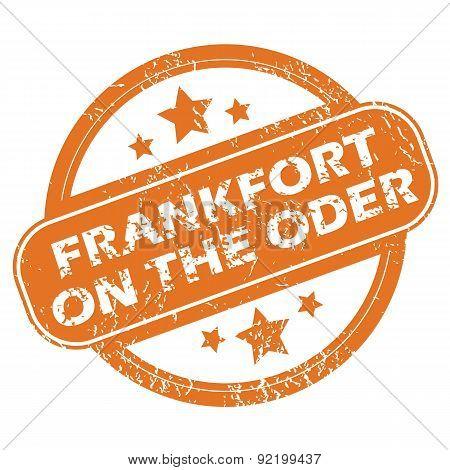 Frankfort on Oder round stamp