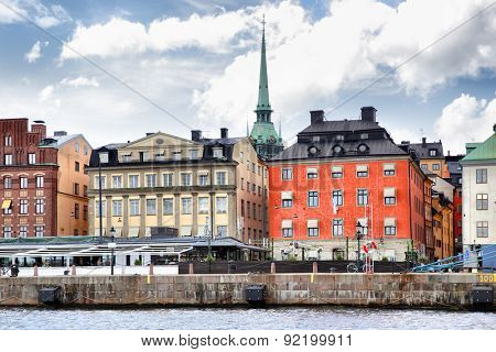 Waterfront in the Old Town of Stockholm (Gamla Stan)
