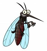 picture of gnats  - Cartoon smiling mosquito - JPG