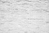 picture of brick block  - White grunge brick wall texture or pattern for background - JPG