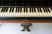 picture of pedal  - Classic Old Grand Piano with pedal  - JPG