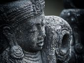 image of immoral  - Gardian statue at the Bali temple entrance Indonesia - JPG