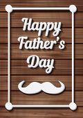 foto of moustache  - Happy Father - JPG