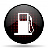 foto of petrol  - petrol red glossy web icon  - JPG