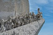 foto of conquistadors  - Monument to the Discoveries at Belem Lisbon Portugal - JPG