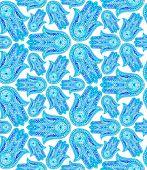image of hamsa  - a beautiful seamless kaleidoscopic pattern - JPG
