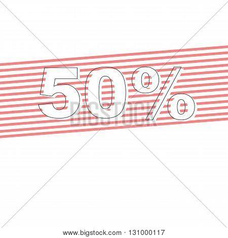 Sale vector banner - discount 50% off