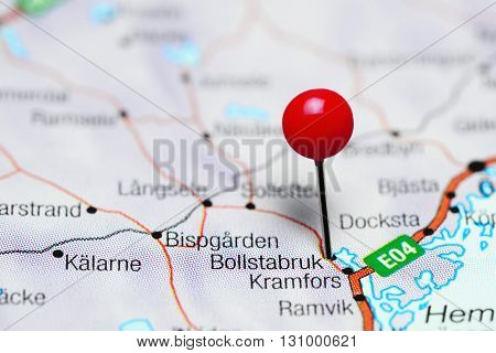 Bollstabruk pinned on a map of Sweden