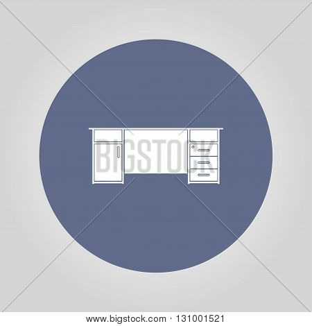 table icon isolated vector eps 10 illustration