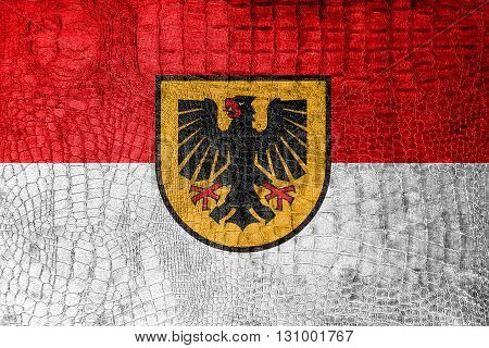 Flag Of Dortmund, On A Luxurious, Fashionable Canvas