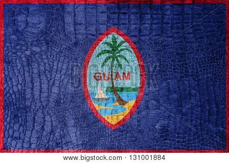 Flag Of Guam, On A Luxurious, Fashionable Canvas