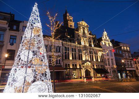 Christmas in Mechelen. Mechelen Flemish Region Belgium