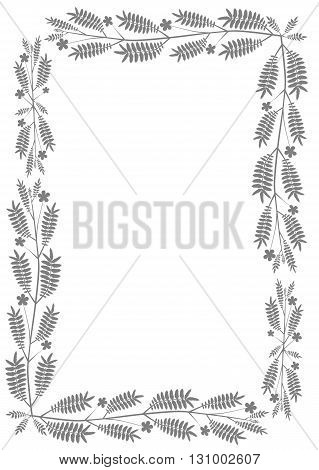 Traditional floral border  with floral pattern - vector illustration.