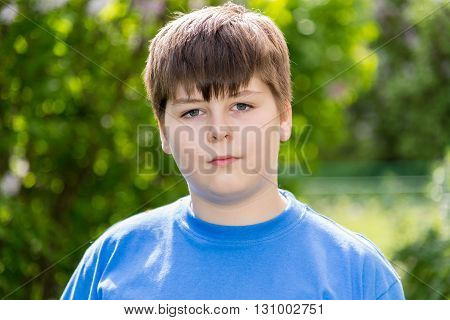 Portrait of boy of about 12 years in Oak Park