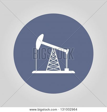 Oil Rig Icon. Flat design style eps 10