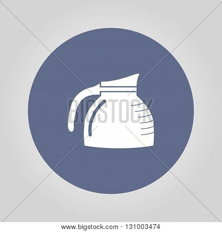 vector kettle icon. Flat design style eps 10