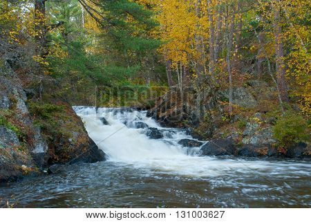 The beautiful Eighteen Foot Falls Marinette county Wisconsin