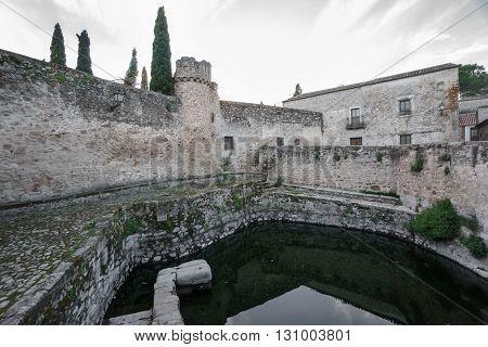 Old way of storing water, la Alberca in Trujillo, Spain