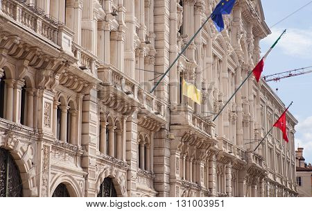 View of the town hall of Trieste