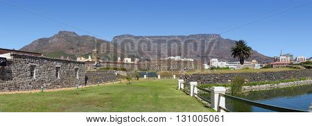 View Of Table Mountain And  The Castle, Cape Town South Africa