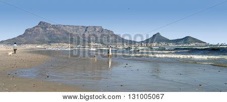 View Of Table Mountain From Wood Bridge Island, Cape  Town South Africa 02