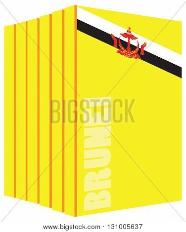 Book about the country of Brunei. Symbol flag.