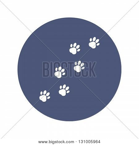 Footprints Of Dogs, Turn Right -vector