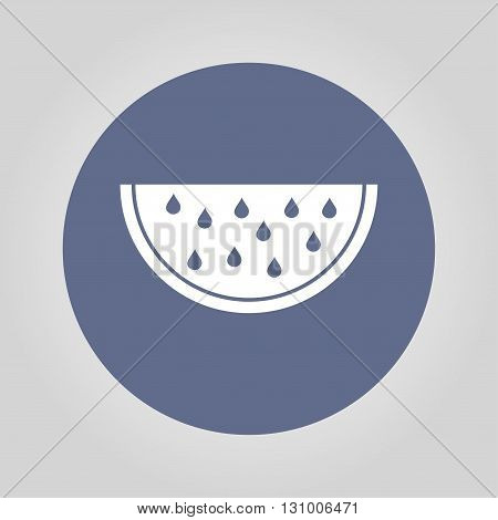 Watermelon slice cut vector icon. Flat design style eps 10