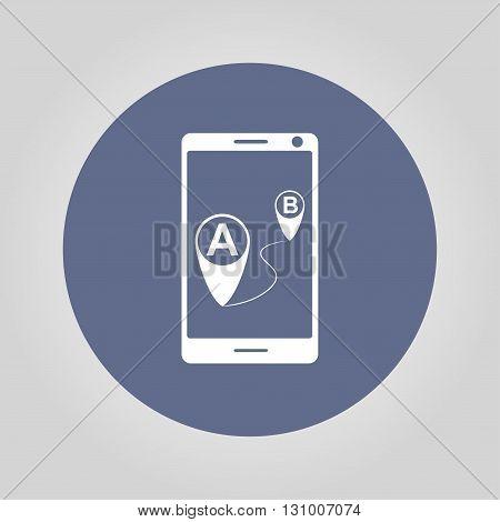 gps smartphoner icon. Flat design style eps 10