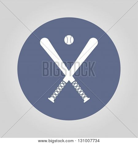 Vector crossed baseball bats and ball set.