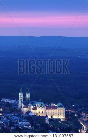 Amazing Klosterneuburg Monastery at sunset. Vienna Austria.