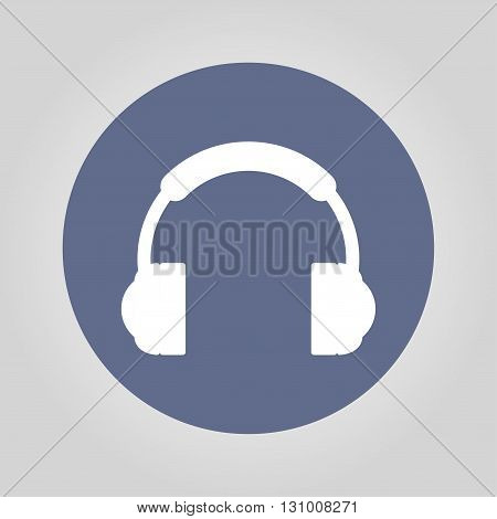 headphone icon Flat design style eps 10