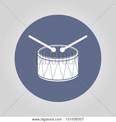 Drum Icon. Flat design style eps 10