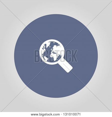Search web icon. vector design. Modern design flat style icon