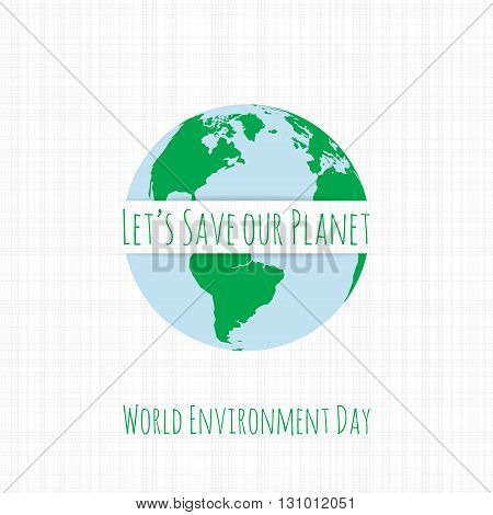 World Environment Day Ecology Banner Template. Vector Illustration.