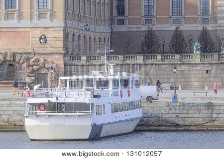 passenger ship in Stockholm, Sweden