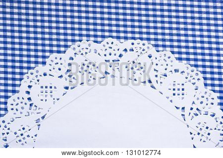 A cute vichy background with a beautiful napkin and a place for your text.
