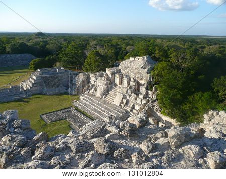 Edzna Mayan Ruins near Campeche Yucatan Peninsula Mexico