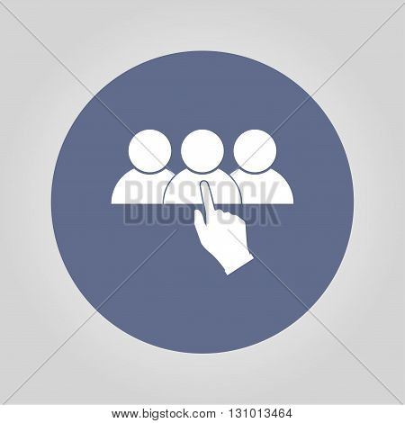 Select of good man icon vector illustration. Flat design style
