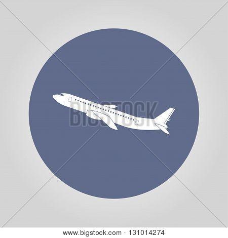 Plane icon. Vector illustration EPS 10 flat