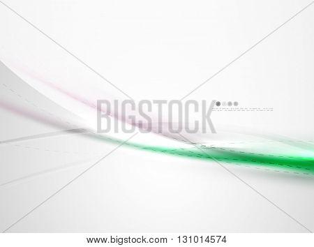 Futuristic green color in wave template. Vector illustration