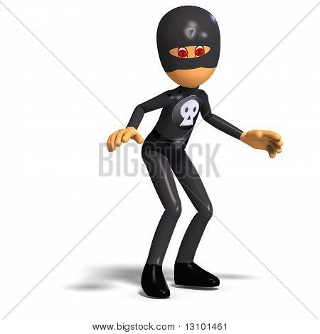 heroic cartoon ninja